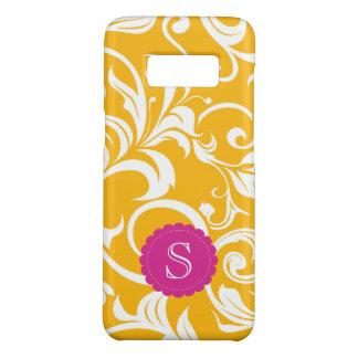 Juicy Citrus Orange Swirl Monogram Case-Mate Samsung Galaxy S8 Case