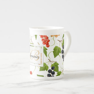 Juicy Currants Monogram Tea Cup