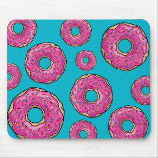 Juicy Delicious Pink Sprinkled Donut Mouse Pad