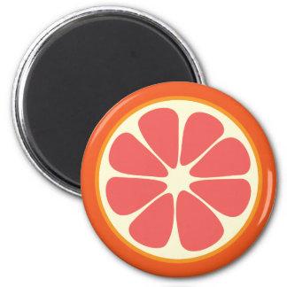 Juicy Grapefruit Summer Citrus Fruit Slice Kitchen Magnet
