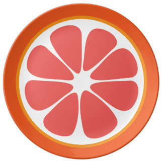 Juicy Grapefruit Summer Citrus Fruit Slice Plate