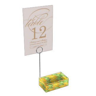 Juicy Lime and orange pattern Table Card Holder