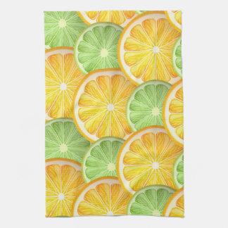 Juicy Lime and orange pattern Towel