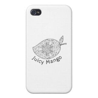 Juicy Mango Black and White Mandala iPhone 4/4S Covers