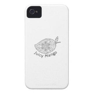 Juicy Mango Black and White Mandala iPhone 4 Case-Mate Case