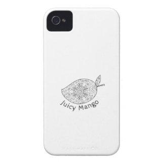 Juicy Mango Black and White Mandala iPhone 4 Covers