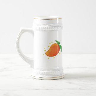 Juicy Mango Fruit Watercolor Beer Stein