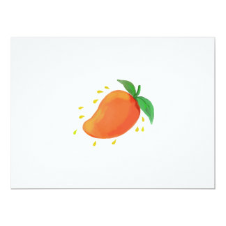Juicy Mango Fruit Watercolor Card