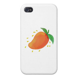 Juicy Mango Fruit Watercolor Covers For iPhone 4