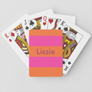 Juicy Orange and Hot Pink Personalized Cards