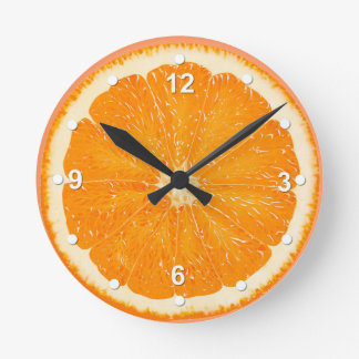 Juicy Orange Kitchen Wall Clock