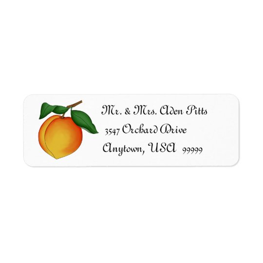 Juicy Peach Return Address Labels