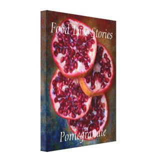 Juicy Pomegranate Food Love Stories Canvas Print.