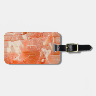 Juicy Pork Meat slices wrap texture Luggage Tag