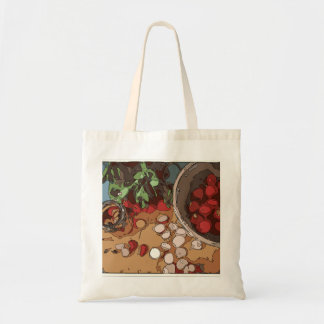 Juicy Radishes and Grilled Potato Tote Bags