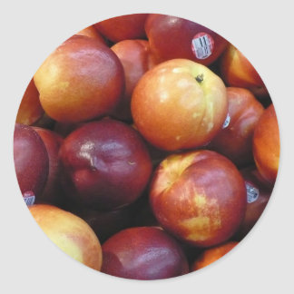 Juicy Red apples Classic Round Sticker