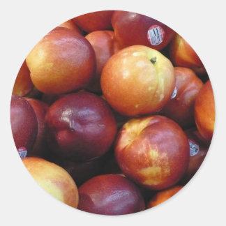 Juicy Red apples Round Sticker