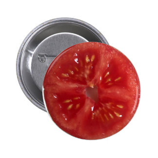 Juicy Red Tomato Pinback Buttons
