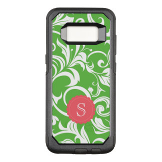 Juicy Watermelon Floral Wallpaper Swirl Monogram OtterBox Commuter Samsung Galaxy S8 Case