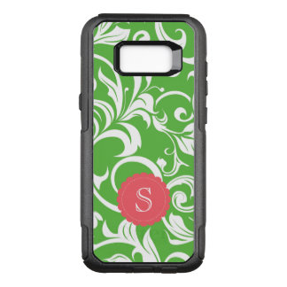 Juicy Watermelon Floral Wallpaper Swirl Monogram OtterBox Commuter Samsung Galaxy S8+ Case
