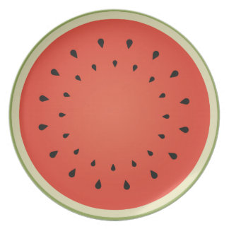 Juicy watermelon plate
