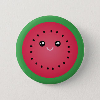 Juicy Watermelon Slice Cute Kawaii Funny Foodie 6 Cm Round Badge