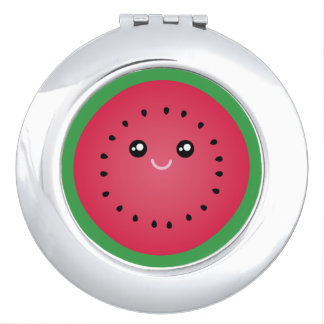 Juicy Watermelon Slice Cute Kawaii Funny Foodie Vanity Mirror