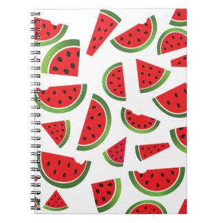 Juicy Watermelon Slices Fruit Pattern Notebook