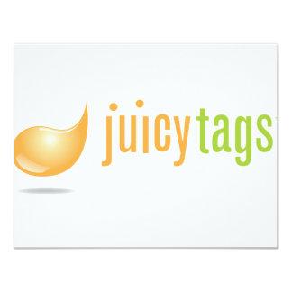 JuicyTags Merchandize 11 Cm X 14 Cm Invitation Card