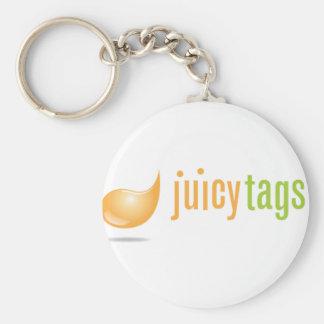 JuicyTags Merchandize Basic Round Button Key Ring