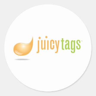 JuicyTags Merchandize Round Sticker