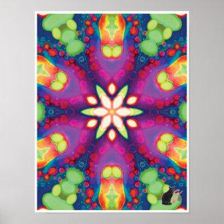 Juju Kinetic Collage Kaleidoscope Poster