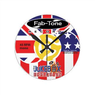 Jukebox Explosion 45 Label Clock