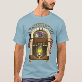 Jukebox Funny Rockaholic T-Shirt