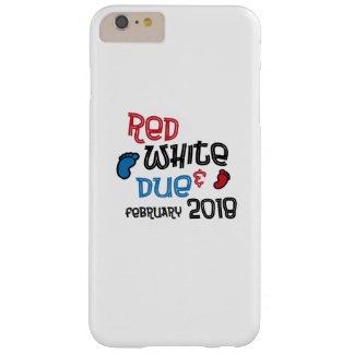 Jul 4th Maternity Pregnant  Red White Due Feb 2018 Barely There iPhone 6 Plus Case