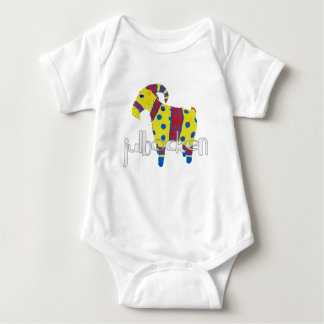 julbocken the Scandinavian Yule Goat Baby Bodysuit