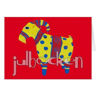julbocken the Scandinavian Yule Goat Card