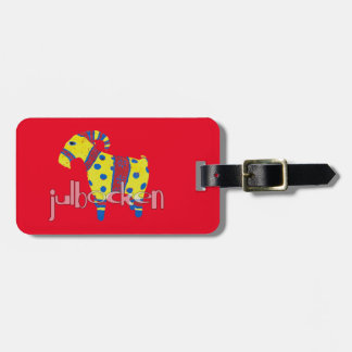 julbocken the Scandinavian Yule Goat Luggage Tag