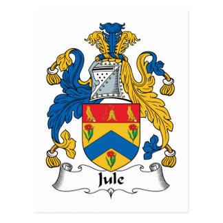 Jule Family Crest Postcard