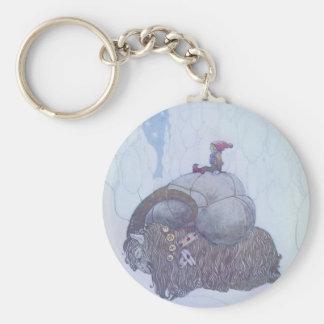 Julebocken Scandinavian Folklore Basic Round Button Key Ring