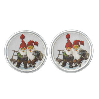 Julenisse Friends Sledding Cufflinks