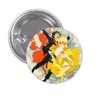 Jules Cheret Art Nouveau Button
