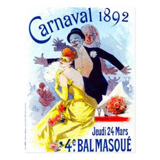 Jules Cheret Carnaval Postcard