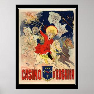 Jules Cheret Casino D'Enghien Print Print
