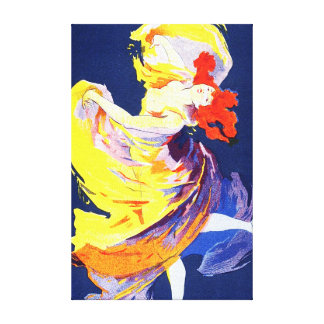 Jules Cheret Folies Bergere Gallery Wrapped Canvas