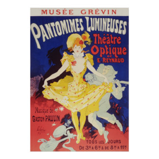Jules Cheret Pantomimes Lumineuses Poster