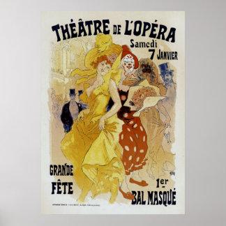Jules Cheret ~ Theatre de L'Opera Poster