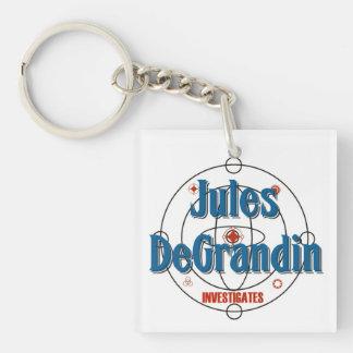 Jules DeGrandne Investigates Single-Sided Square Acrylic Key Ring