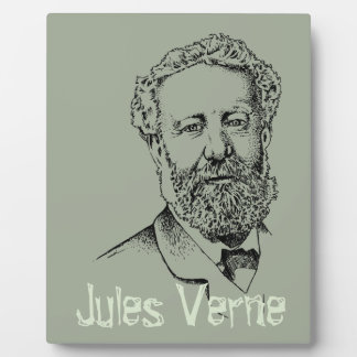 Jules Verne the steampunk writer Plaque