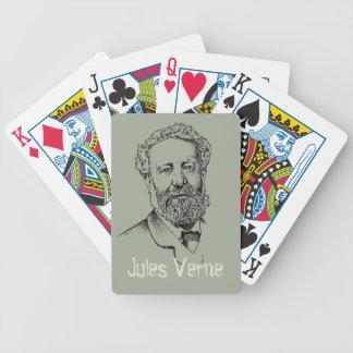 Jules Verne the steampunk writer Poker Deck